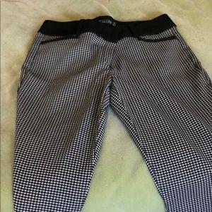 Size 10 Black and White straight leg pants